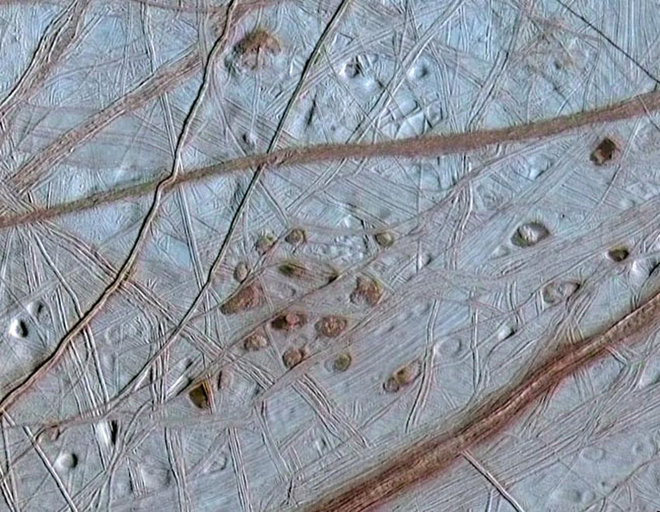 europa surface close up